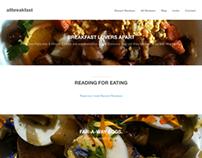 """""""Breakfast Land"""" Breakfast Review Site"""