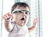 Into the Future - Baby Wearing Google Glass
