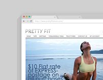 Pretty Fit Store - complete branding design