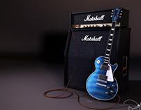 Gibson Guitar 3Dmodeling & Render