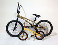 Hand wood carved BMX