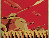 Affiche Propagande Star Wars Droïdes