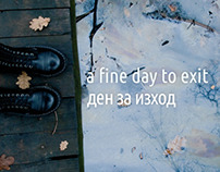 'A Fine Day to Exit' book design