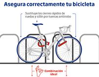 Cómo aparcar tu bici de forma segura | Ciudadano 0,0