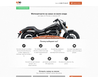 redesign Landing page of moto spares