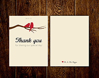 Love Bird Thank You Card