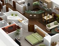 Digital Renderings (Interiors)