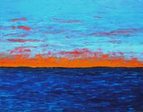 Cadmium Sunset 40 x 51.5