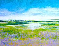 The Lavender Field 29 x 48