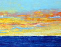 Yellow Sunset 54 x 48