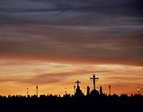 Perfect sunset over Prague...