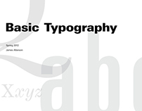 Typographic Exploration Book