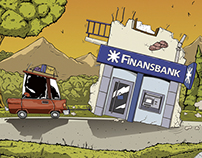 Finansbank Newspaper Poster