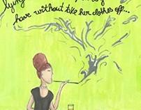 Smoking Girl At The Bar