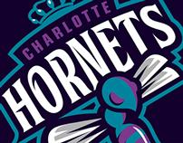 CHARLOTTE HORNETS RE-LOGO