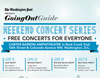 Poster Ads for The Washington Post Concert Series