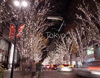 City lights of Tokyo December 2013
