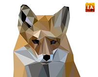 The Fox: A Low Poly Illustration