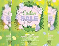 Easter Sale 2019 Flyer - Seasonal A5 Template