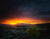 Iceland :: Sunset over Þingvellir