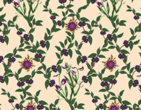 Botanical Drawing pattern bedding