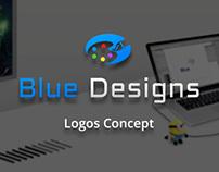 Blue Designs Logos Concept