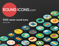 1000 Vector Round Icons made for web professionals