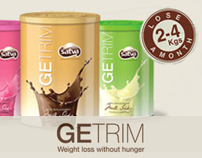 Getrim.in - website for a weight loss brand