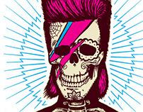 Bowie Ziggy Sugarskull T Shirt