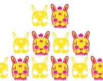 Skull Bunny Sticker