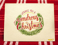 A Hand-Lettered Christmas