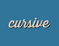 Cursive 2013—Typography Blog