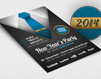 New Year's Party Flyer Template