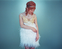 Wedding Feather Dress