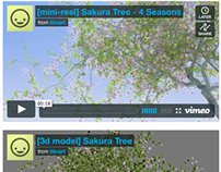 [mini-reel & model] Sakura Tree: Four Seasons