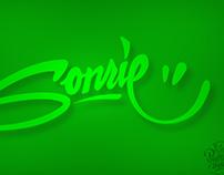 """Sonríe"" lettering process"