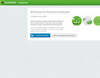 Evernote Business Profile Setup
