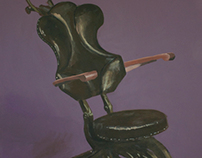 Antique Dentist Chair Painting