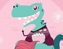 Violeta y el dinosaurio