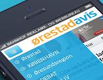 Hjemmeside til Ørestad Avis