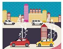 Maruti-Bimel-showroom wall graphics