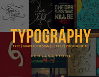 Typography and Photoquote design