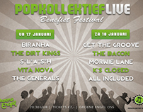 Gig poster ''Popkollektief Live''