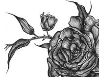 Tattoo Design : Dark Roses