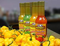 Ashman's Pepper and Jerk Sauce Labels