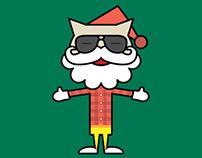 BIGCAT New Year Greetings Card