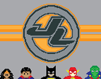 Justice League Of Pixelated Heroes
