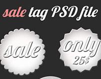 free PSD sale tag