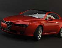 Dark studio renders the Alfa Brera
