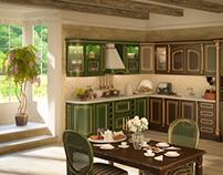 """Kitchen """"Positano"""" - 3D visualization"""
